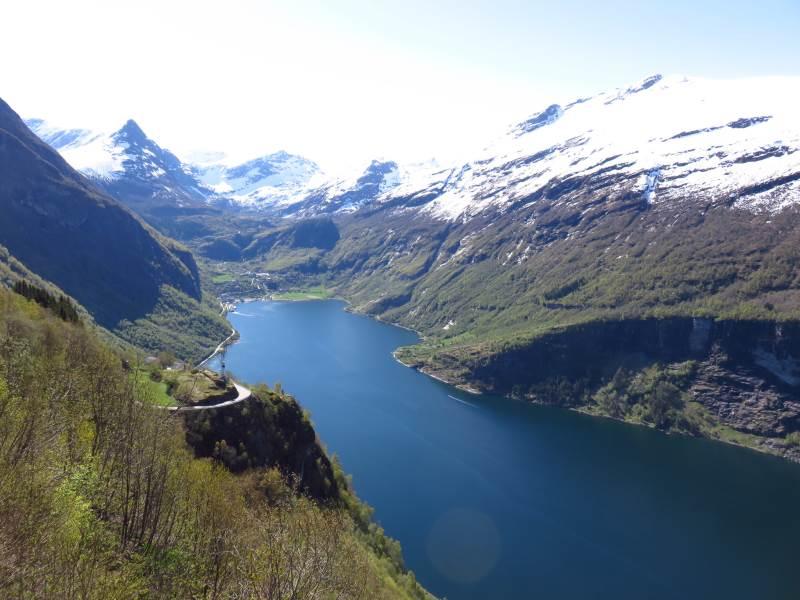Fotografía aérea de los fiordos de Noruega