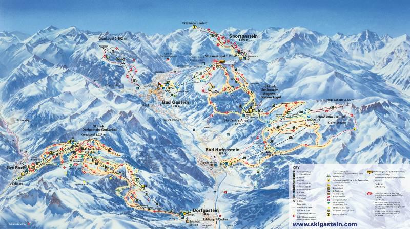 pistas de esquí en bad gastein
