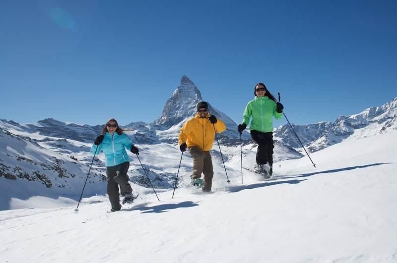 raquetas en Zermatt